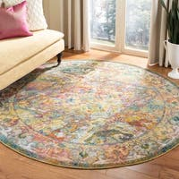 Safavieh Crystal Vintage Light Blue / Orange Rug - 7' x 7' Round