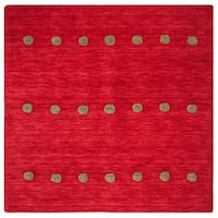 Safavieh Hand-Woven Himalaya Modern & Contemporary Red Wool Rug - 6' x 6' Square