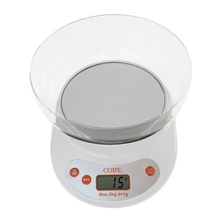 Coby Digital Kitchen Scale with Bowl