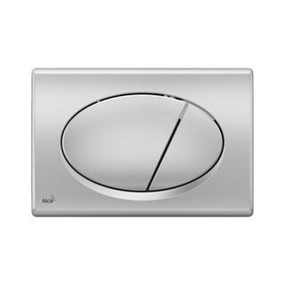 Alca Plast Dual Flush Plate for Concealed Water Tanks (M72 - Plastic Chrome)