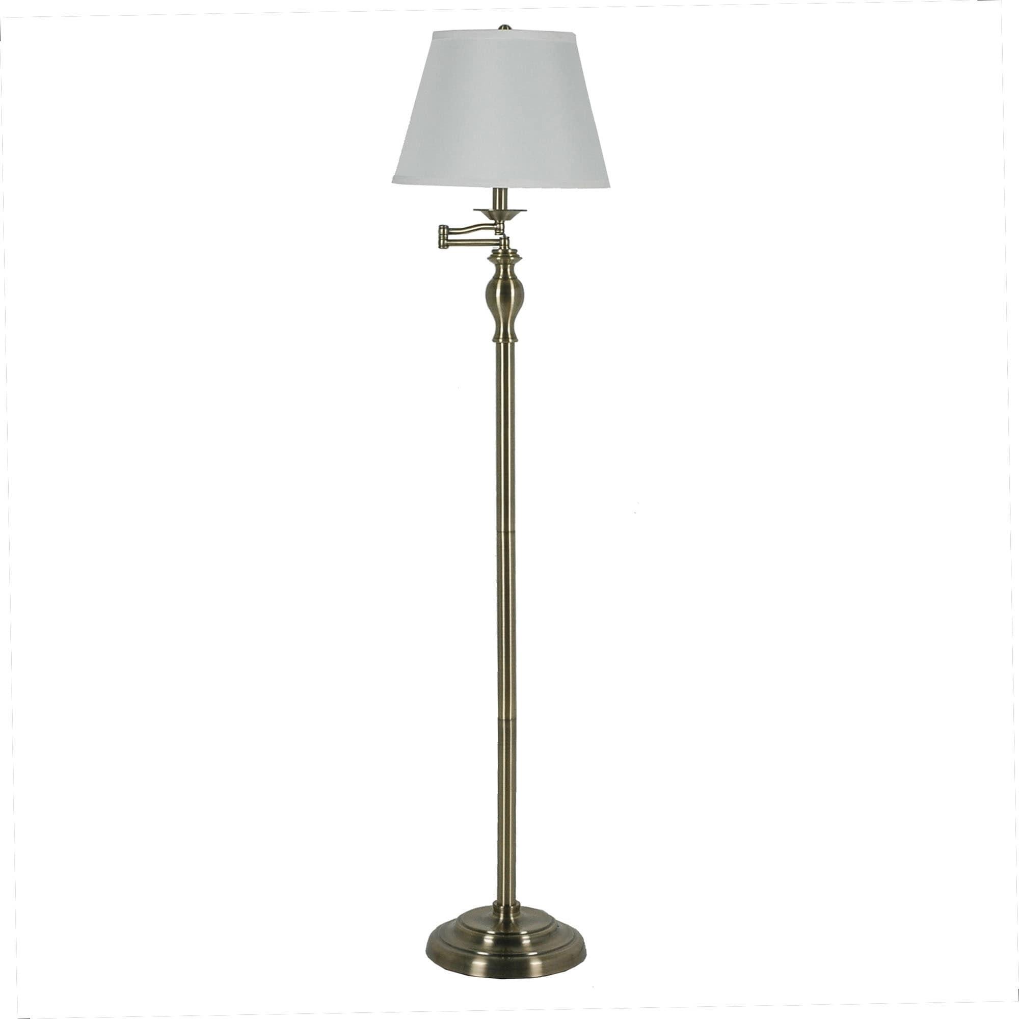 Image of: Shop Fangio Lighting S 1258 60 Swing Arm Floor Lamp In Antique Brass Overstock 22561496
