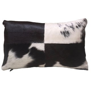 Frida Black White Cowhide Rectangular Pillow