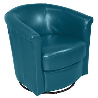 Shop Handmade Marvel Leather Look Swivel Accent Chair 29