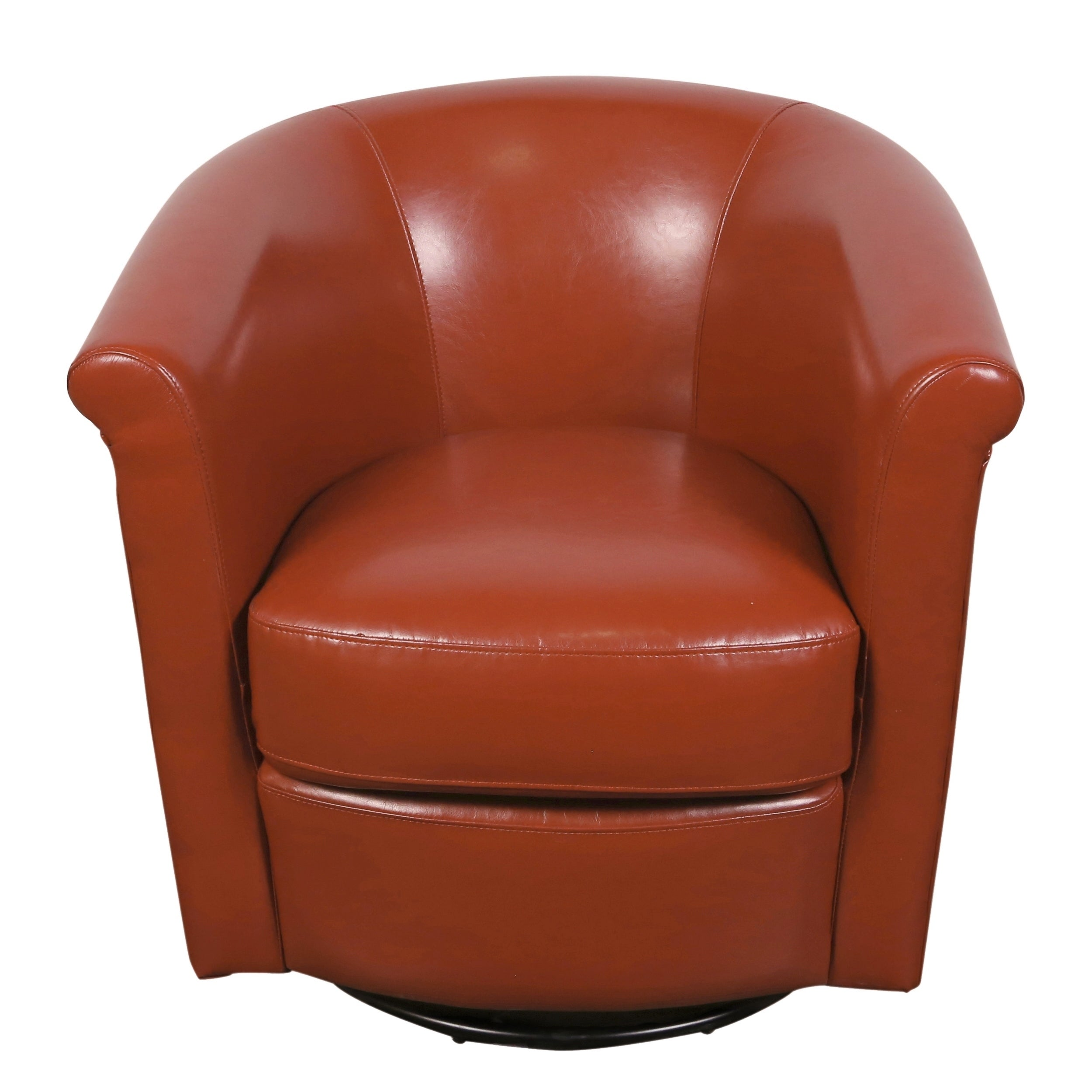 Incredible Porter Designs Marvel Contemporary Leather Look Swivel Accent Chair Sunset Orange 29H X 31D X 31W Pdpeps Interior Chair Design Pdpepsorg