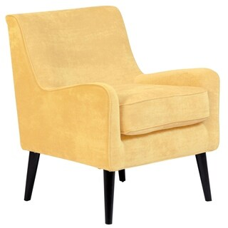 Porter Designs Kristina Yellow Upholstered Wood Frame Modern Accent Chair