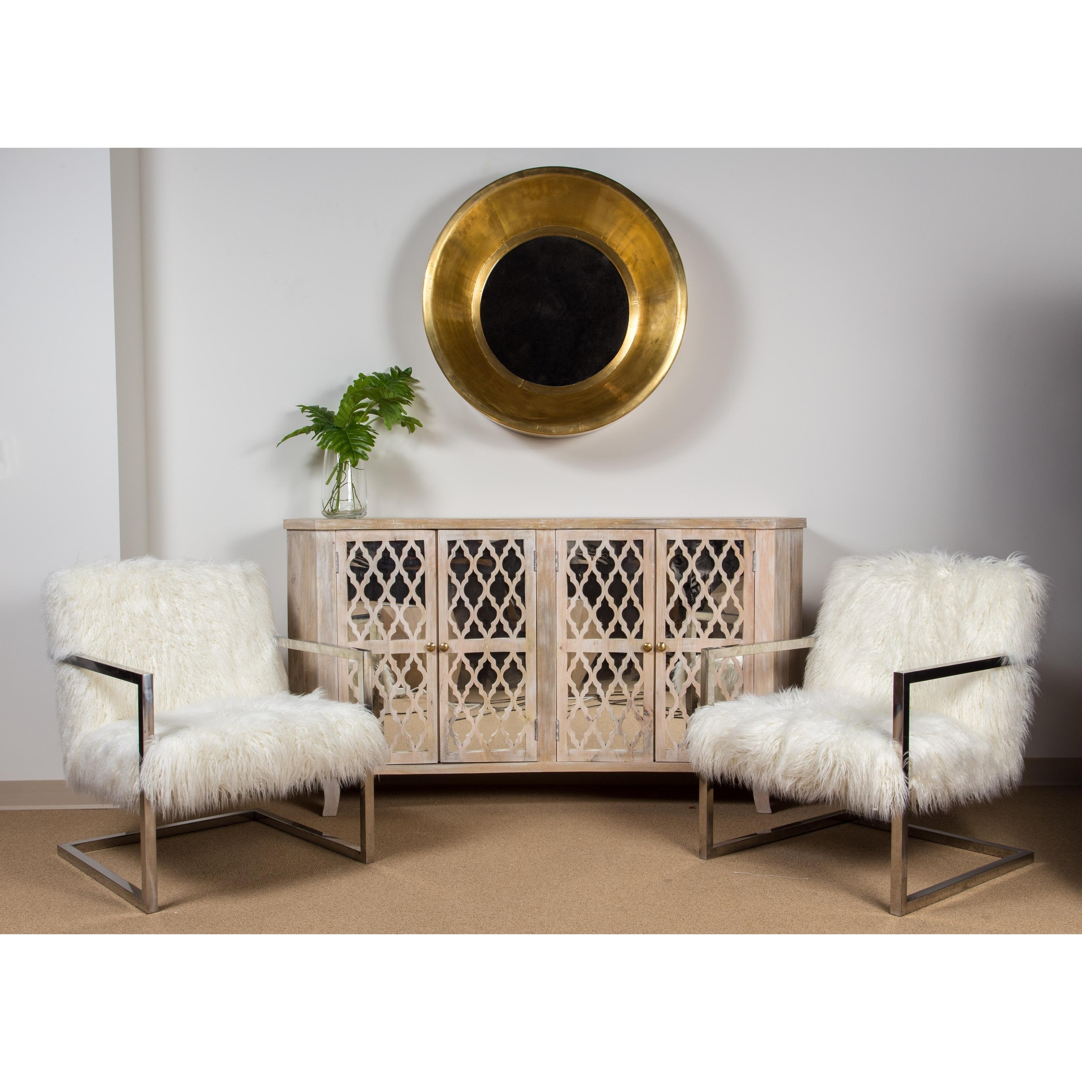 Stupendous Porter Designs Zsa Zsa Faux Llama Fur Metal Accent Chair 34H X 25D X 25W Andrewgaddart Wooden Chair Designs For Living Room Andrewgaddartcom