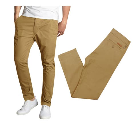 Galaxy By Harvic Men's Cotton Stretch Casual Chino Pants