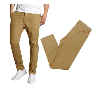Galaxy By Harvic Men's Cotton Stretch Casual Chino Pants (More options available)
