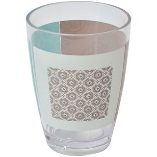 Evideco Faience Printed Bathroom Water Tumbler Clear Acrylic