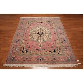 Romanian Serapi Multicolored 100-percent Wool Handmade Persian Area Rug - 8'11 x 11'9