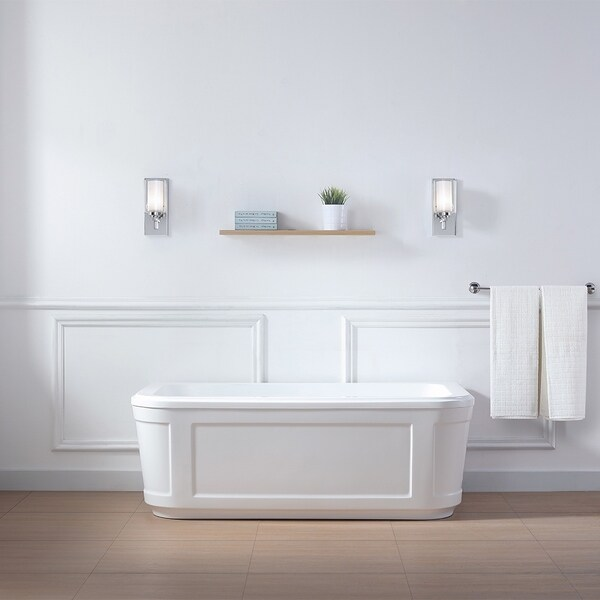 OVE Decors Kennedy 63 In. White Freestanding Bathtub