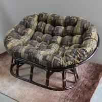 Blazing Needles 65-inch Tapestry Double Papasan Cushion