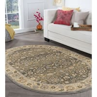 Alise Rugs Rhythm Traditional Oriental Oval Area Rug - 5'3 x 7'3