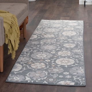 Alise Rugs Carrington Transitional Floral Runner Rug - 2'3 x 7'3