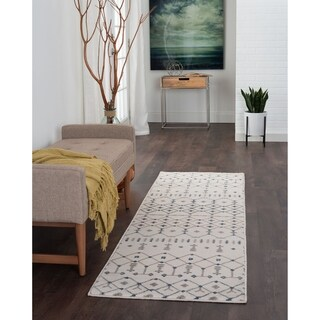 Alise Rugs Carrington Transitional Geometric Runner Runner - 2'3x 10'