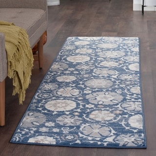 Alise Rugs Carrington Transitional Floral Runner Rug - 2'3 x 10'