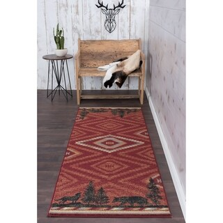Alise Rugs Natural Novelty Lodge Runner Runner - 2'7 x 7'3
