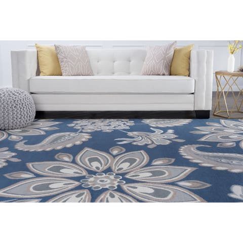 Alise Rugs Hamilton Transitional Floral Area Rug - 5' x 7'