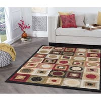 Alise Rugs Hamilton Contemporary Geometric Rectangle Area Rug - 5' x 7'