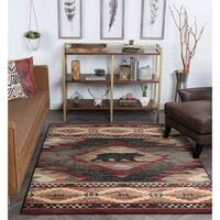 Alise Rugs Natural Novelty Lodge Rectangle Area Rug - 5'3 x 7'3