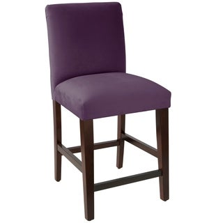 Skyline Furniture Counter stool with diamond tufted back in Velvet - N/A