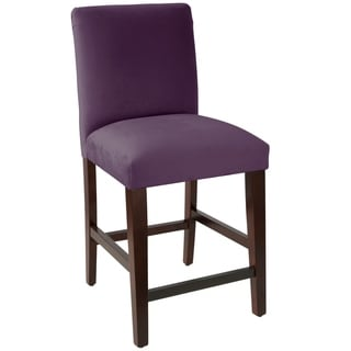 Skyline Furniture Counter stool with diamond tufted back in Velvet