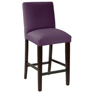 Skyline Furniture Bar stool with diamond tufted back in Velvet - N/A
