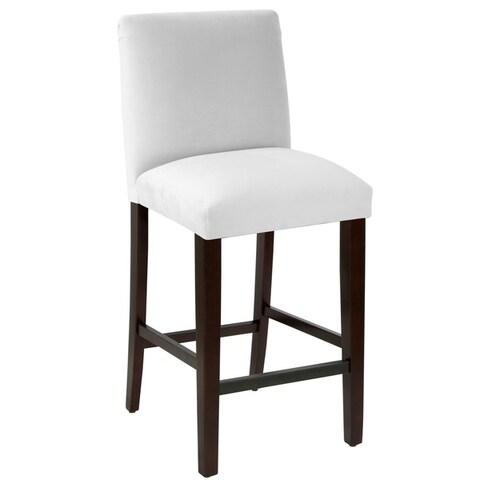 Skyline Furniture Bar stool with diamond tufted back in Velvet