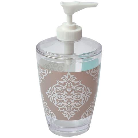 Evideco Faience Printed Bathroom Soap and Lotion Dispenser