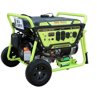 Green Power 8000-Watt Gas Generator, Elec. Start w/Battery, LCT Engine