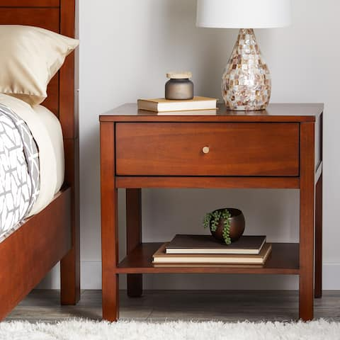 Strick & Bolton Asher Chestnut Nightstand