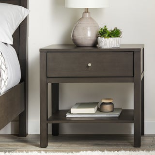 Strick & Bolton Asher Charcoal Nightstand