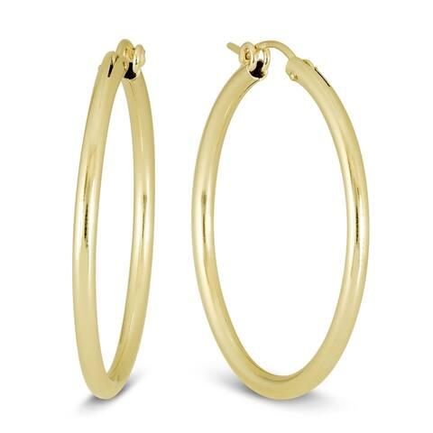 14K Yellow Gold Filled Hoop Earrings (34mm)