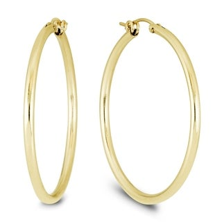 14K Yellow Gold Filled Hoop Earrings (41mm)