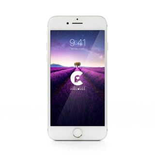 Apple iPhone 7 T-Mobile - Refurbished by Overstock 128 GB - White and Silver - T-Mobile