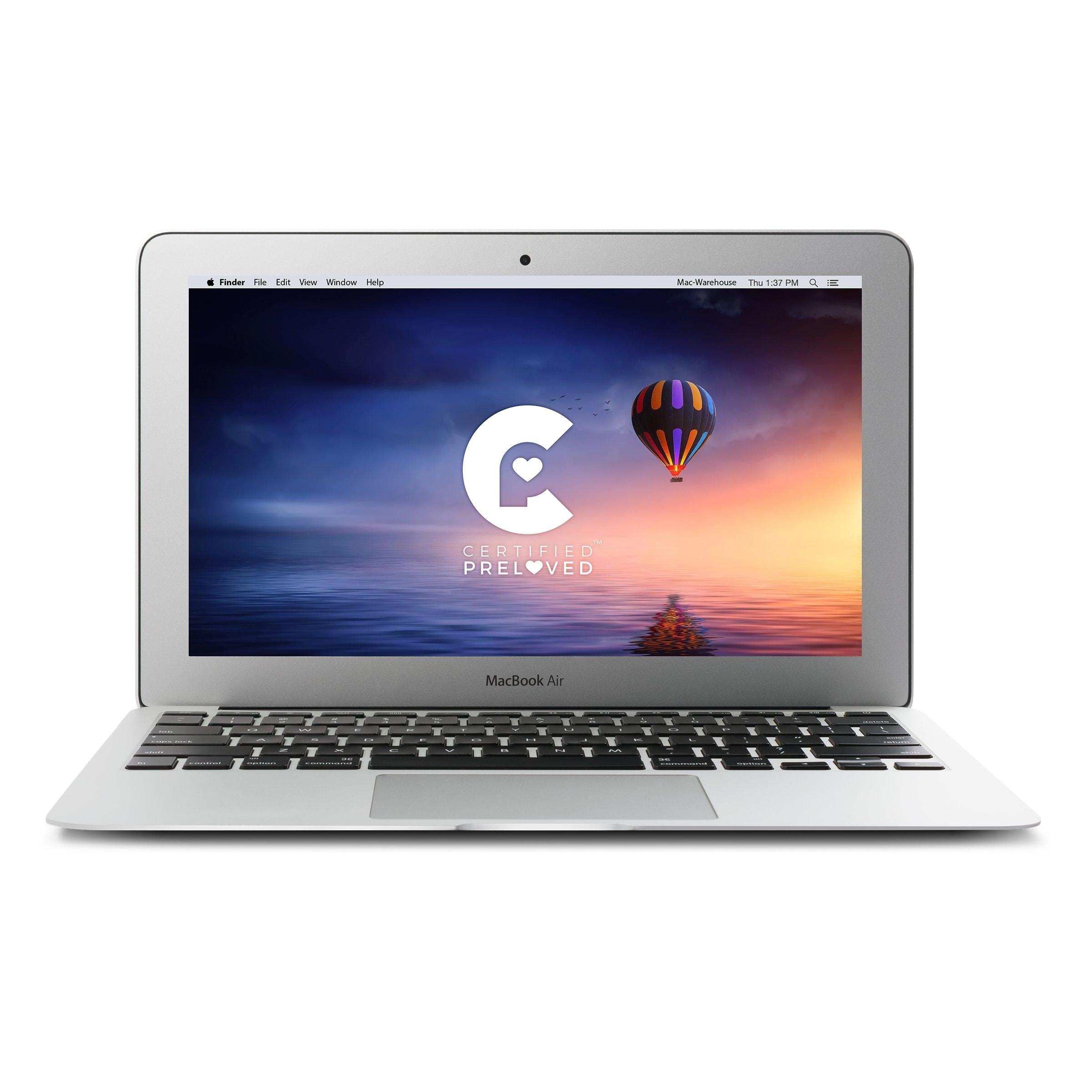Apple 11.6-inch Macbook Air MD224LL/A DCi5 1.7 GHz 4GB RAM 128GB SSD - Refurbished by Overstock 128gb flash - 4 GB