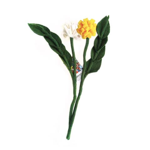Handmade Felt Tulip Stem - Sold Individually (Nepal)
