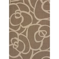Terrace Cecilia Brown Indoor/Outdoor Area Rug (5'3 x 7'6) - 5'3 X 7'6