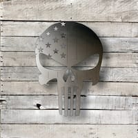 American Punisher Skull - Natural Steel Wall Décor