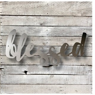 Bless Word Art - Natural Steel Wall Décor