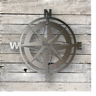 Compass - Natural Steel Wall Décor