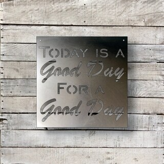 Good Day - Natural Steel Wall Décor (4 options available)