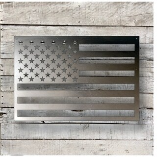 American Flag - Natural Steel Wall Décor