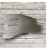 Distressed Flag - Natural Steel Wall Décor