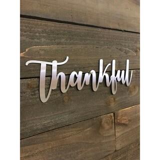 Thankful Word Art - Natural Steel Wall Décor
