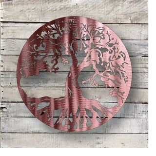 Tree Of Life - Natural Steel Wall Décor 18 inches