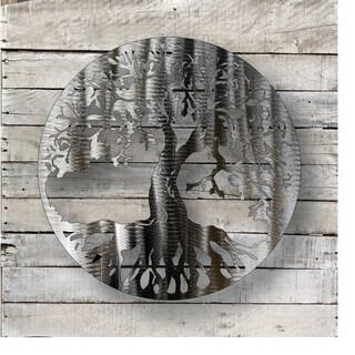 Tree Of Life - Natural Steel Wall Décor