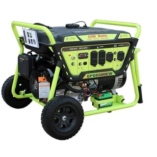 Green Power 6500-Watt Gas Generator, Elec. Start w/Battery, LCT Engine