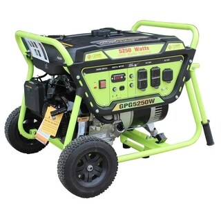 Green Power 5250-Watt Gas Powered Portable Generator with LCT Engine