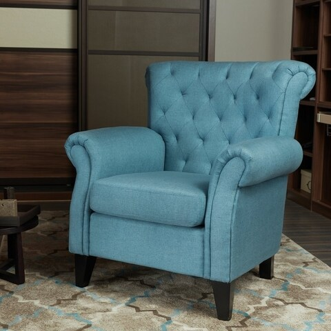 Lokatse Linen Roman-style Indoor Accent Sofa Chair